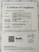 RoHS Certificate of LED Rechargeable Bulb