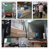 French customer visited and make one 40 Feet container of SHUNLI car lift.