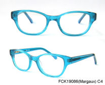 trendy crstal blue girl optical frame