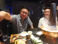 Having Lamb Hotpot Dinner with our Korea Customer during exhibition 07.20.2017