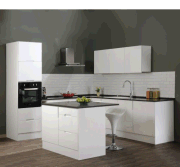 Modern Style MDF/Particle Board/Plywood White Kitchen Cabinets