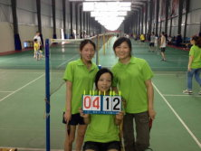 Badminton match