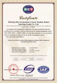 Jiamei Outdoor Fitness Equipment Certificate - ISO9001