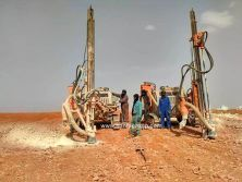 HFG-53 integrated DTH drilling rig In Algeria Working Site