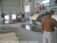 Curved Slabs polished machine