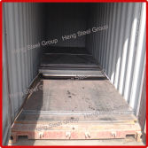 Wear steel plate loading