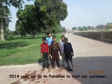 2014 year Wevisited our Pakistan customer (Sangla Hill District Nankana Sahib, Punjab )