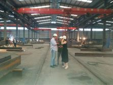 Isreal Customers visit our factory for steel structure workshop