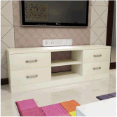 Wood Modern TV Cabinet with 4 drawers