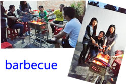 Xinyimei Sales team barbecue activity