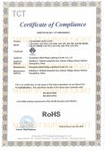 RoHS CERTIFICATE OF LED MOVING HEAD LIGHT