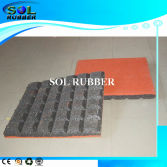 CE certificated outdoor rubber floor tile