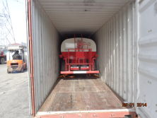 water truck shipped by container
