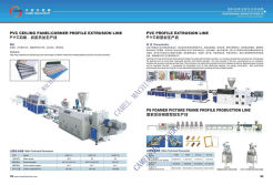 pvc ceiling pannel profile extrusion line