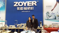 zoyer sewing machine cisma fair show
