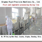 Fruit and vegetable processing drying line