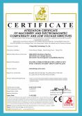 Attestation certificate of machinery and electromagnetic compatibility and low voltage directives