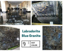 Labradorite blue granite slab