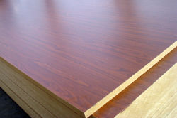 Red walnut melamine MDF