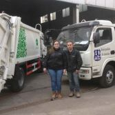 Paraguay client come to our factory inspect garbage truck quality
