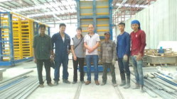 Vertical type EPS concrete wall panel prodiction line in Bangkok, Thailand