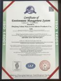 ISO14001 Certificate of Environment Management System