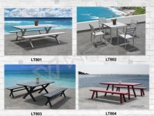 Powder coated furniture