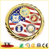 Hot selling gold metal coin medal
