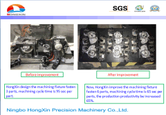 HongXin always doing the VAVE via improve the machining fixture design