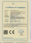 CE certification of power track and connector