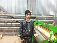 Install electric welded mesh machine
