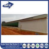 Ghana steel structure poultry house finished installation at site.