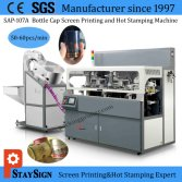 Screen printing and hot stamping machine