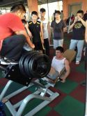 test the max load of the leg press machine