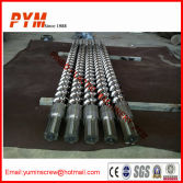 Bimetallic screw and barrel for shoes machine