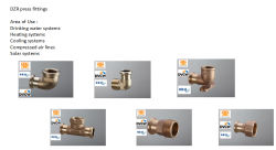 Bronze press fittings