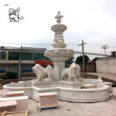 Marble lion fountain