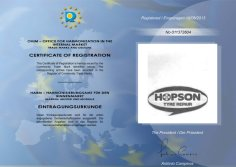HOPSON TYRE REPAIR REGISTRATION in EUROPE