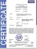 CE certificate for Bonwin fingerprint lock