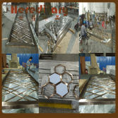 The metal screen has finished and gave delivery