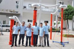 Indian customer come for delivery inspection of AC resonant test system