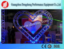 Butterfly Polygon Performance Aluminum Heart Shape Stage Truss for Decoration