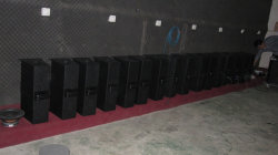 Active speaker testing in testing room before shipment