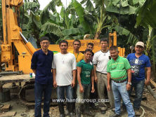 HFW200L water well drilling rig at Philippines working site