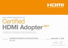 2017 HDMI certification