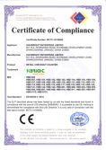 Highbright Checkou Counter Certificate