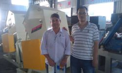 Brazil customer come to my company check the crusher