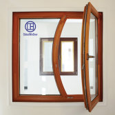 Solid wood tilt and turn special shaped window