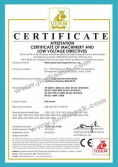 CE Certificate of CNC Router (ATTESTATION CERTIFICATE OF MACHINERY AND LOW VOLTAGE DIRECTIVES)