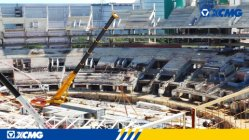 XCMG crane applied to Brazil world cup stadium construction project